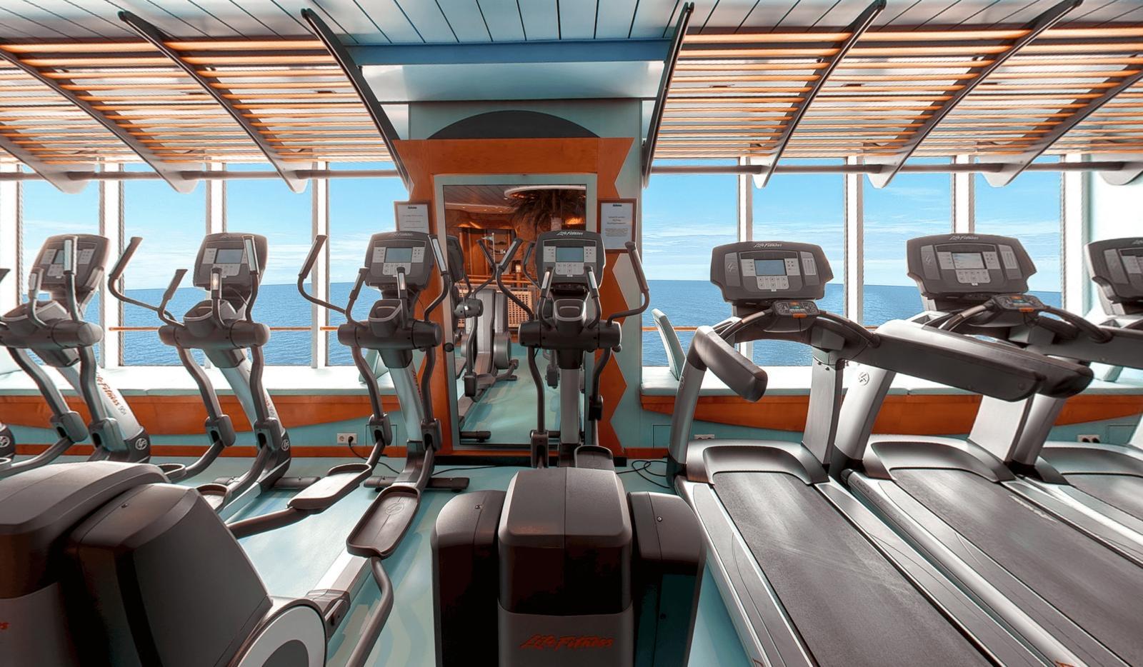 Espace Fitness sur un bateau de Croisière