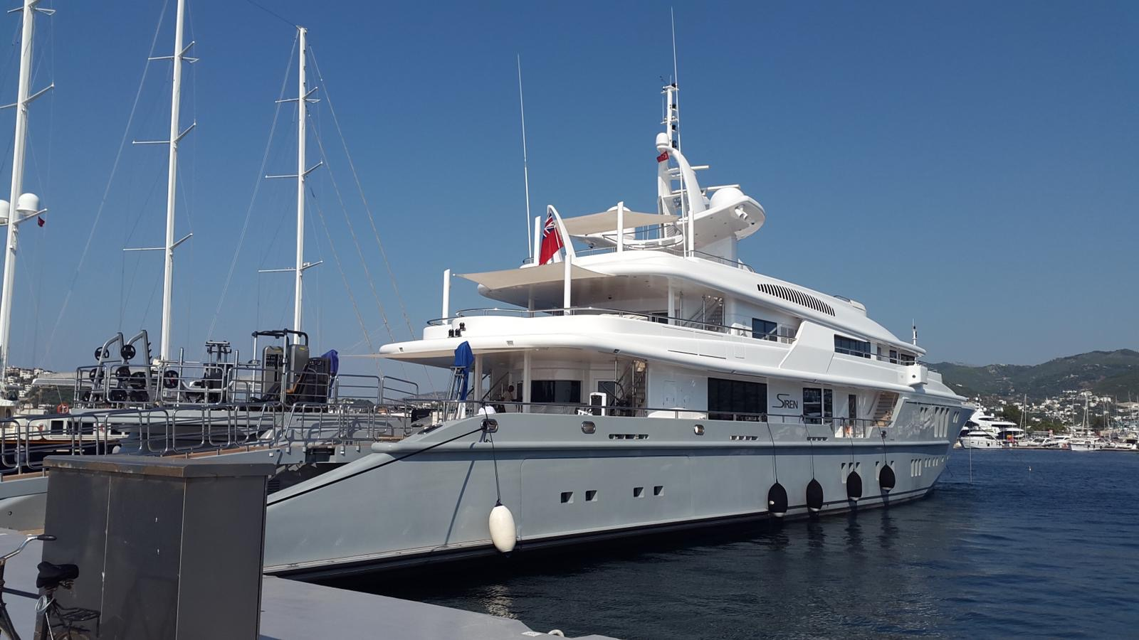 Espace fitness sur le Yacht Siren en Turquie